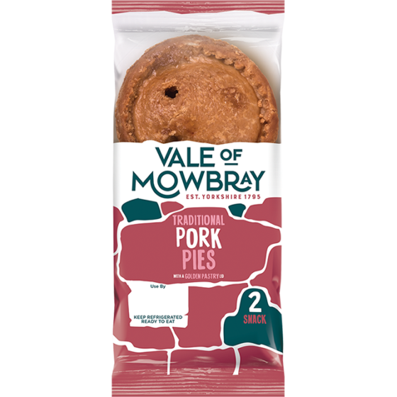 Two Snack Pork Pies